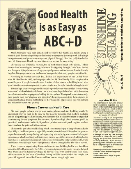 Good Health is as Easy as ABC+D