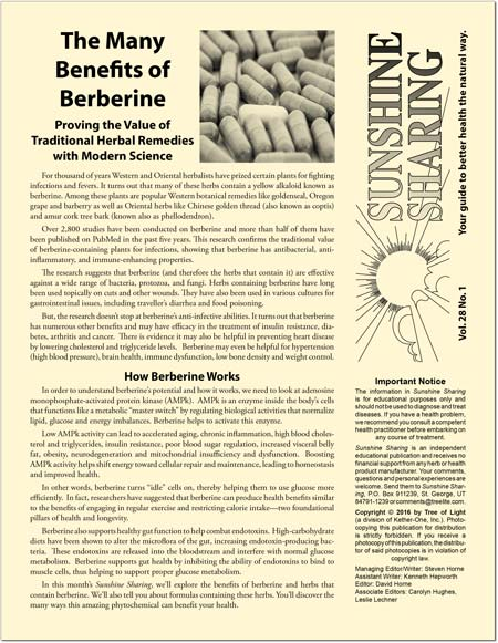 The Many Benefits of Berberine
